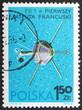 Postage stamp Poland 1966 FR 1, French Satellite