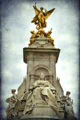 Statue of Queen Victoria, Buckingham Palace, London, UK