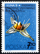 Postage stamp Poland 1966 Luna 9, USSR Spacecraft