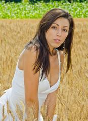 Beautiful brunette outdoor