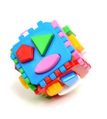 bright colorful geometrical puzzle