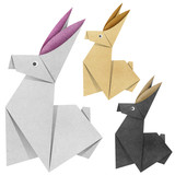 Origami rabbit Recycled Papercraft
