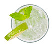 Mojito drink from top view, isolated on white background - 42826804