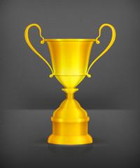 Gold trophy, vector