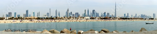 Panoramic view of Dubai from the Persian Gulf