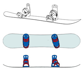 Snowboard Vector 01