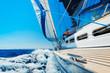 Fototapete Blau - Boot - Segelboot