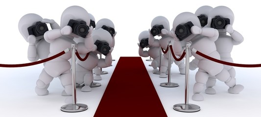 Paparazzi at the red carpet