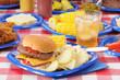 Summer picnic feast