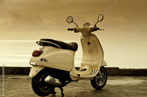 Retro Motorbike - 42834440