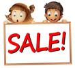 kids showing sale board