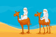 camel and arabs