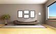 brown modern livingroom