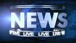 Broadcast news earth globe title animation - Blue