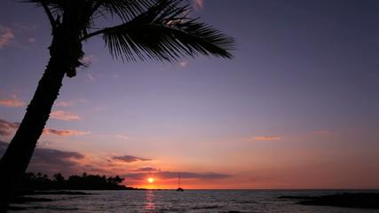 ハワイ島の夕暮れ
