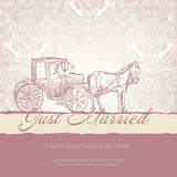Wedding card with typographics template. Vector EPS10. poster