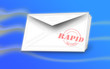 Mail with a blue Background