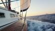 Fototapete Meer - Warm - Segelboot