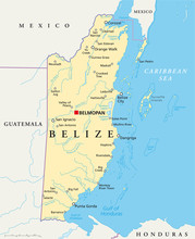 Belize Map (Belize Landkarte)