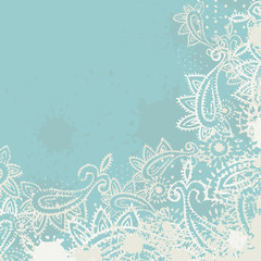 Vintage paisley elements greeting card