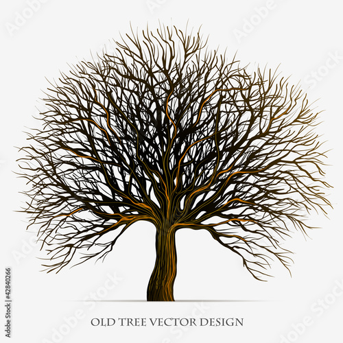 Tree vector silhouette illustration design