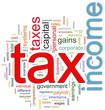 Wordcloud of Income tax