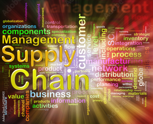 Chain supply management wordcloud