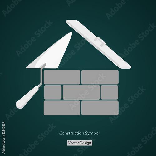 house building symbol vector creative design