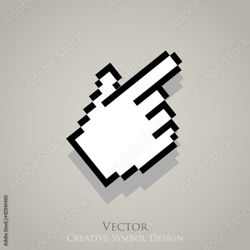Web cursor pointer vector icon. Click internet symbol