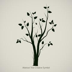 Tree Symbol Design, Creative Nature Icon