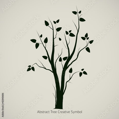 Tree Symbol Design, Creative Nature Icon