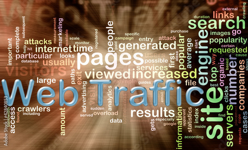 wordcloud of web traffic
