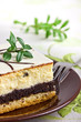Delicious sweet cheesecake with poppy seed