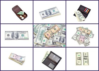American money collage