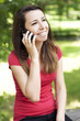 Girl talking happy on the phone