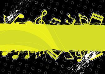 music grunge artwork design