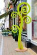 Stadiometer - tree near  store colors in Gorinchem. Netherlands