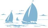 Segelboote Zeichnung