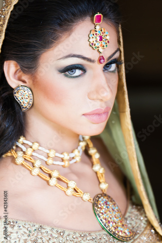 portrait of beautiful Indian bride