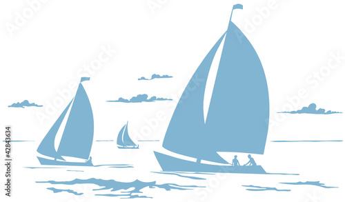 Fototapeta Segelboote Zeichnung