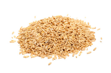 Wholegrain Oats Isolated on White Background