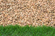 pebble stone and grass background