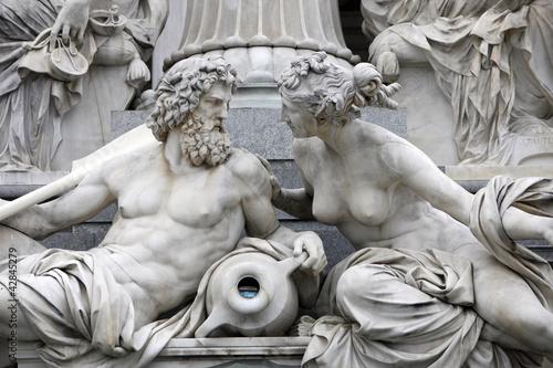Aluminium Wenen Detail of Pallas-Athene fountain, Vienna