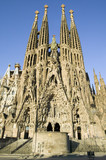 Antoni Gaudi's Sagrada Familia or the Temple Expiatori de la Sagrada Familia was begun in 1882, Barcelona, Spain