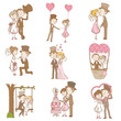 Bride and Groom - Wedding Doodle Set - Design Elements for Scrap