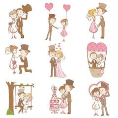 Bride and Groom - Wedding Doodle Set - Design Elements for Scrap