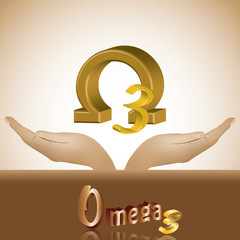 Omega 3 in head product banner 3d