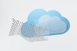 Cloud computing, downloading concept