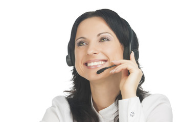 customer's support operator with headset