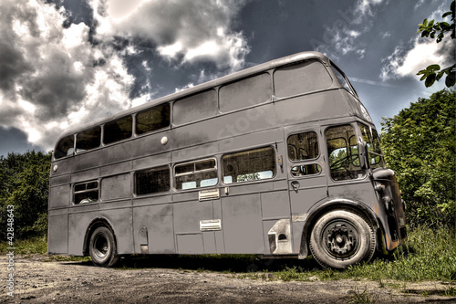 In de dag Londen rode bus Leyland Bus HDR - High Dynamic Range